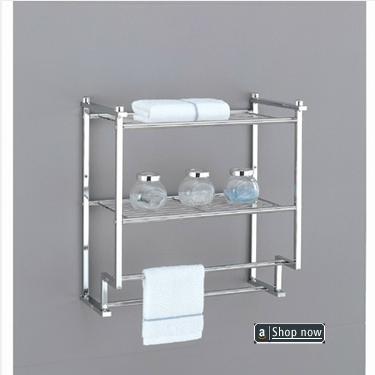 Luxury Wall Mounted Towel Rack with Shelf