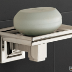 Soap dish wall mount