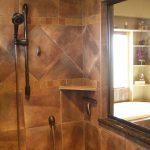 Shower shelves for tile
