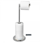 Toilet freestanding roll holder stand