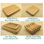 Double Curved Wooden soap dish