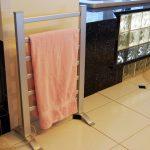 install free standing towel racks
