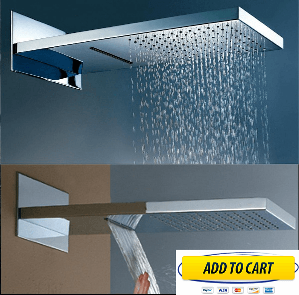 rainfall shower waterfall dual with stainless steels